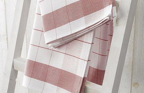 De Witte Lietaer Theedoek Mixte 68x68 Red