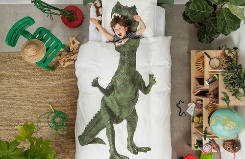 SNURK Dekbedovertrek Dino