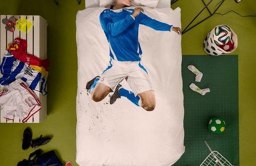 SNURK Dekbedovertrek Soccer Blue
