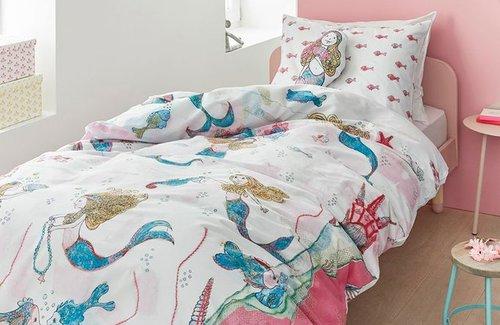 Beddinghouse Mermaids Dekbedovertrek 140x200/220cm Pink