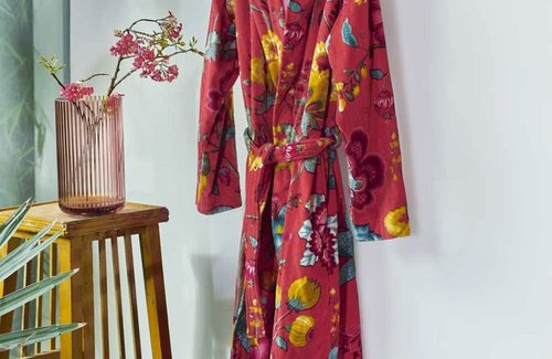 PiP Studio Floral Fantasy Badjas Rood