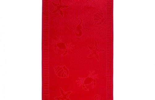 Arkhipelagos Seafood Strandlaken (100x200cm) Red