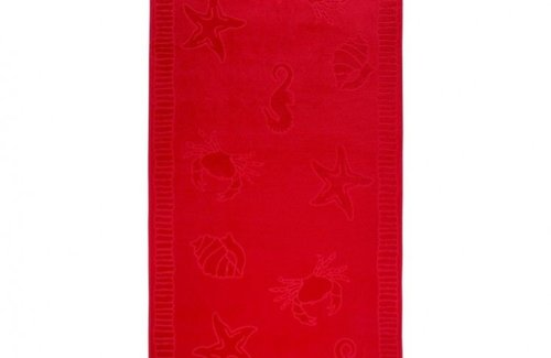Arkhipelagos Seafood Strandtuch (100x200cm) Red