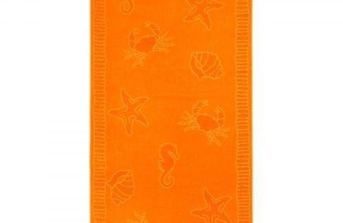 Arkhipelagos Seafood Strandlaken (100x200cm) Orange