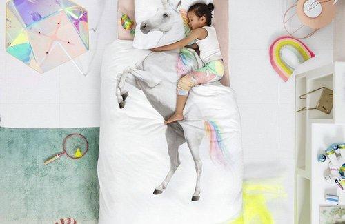 SNURK Unicorn White Bettwäsche