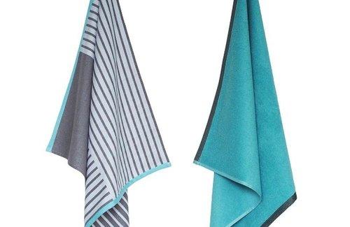 Elias Urban Stripe Turquoise Küchenset