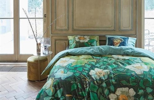 Beddinghouse Dekbedovertrek van Gogh Wild Roses Green