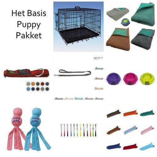 PJH Het Basis Puppy Pakket met 76x45x51 cm Bench