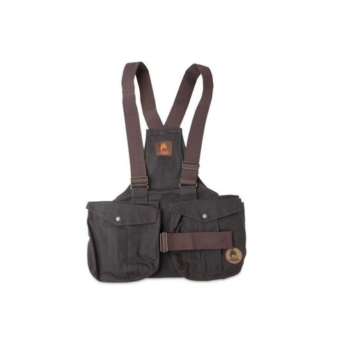 Firedog Firedog Dummy Trainer Vest Waxed Cotton met metaal gesp