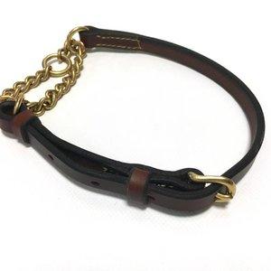 De Rolleman Rolleman Leren Half-check Halsband