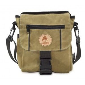 Firedog Mini Deluxe Tas Wax Cotton - Licht Khaki