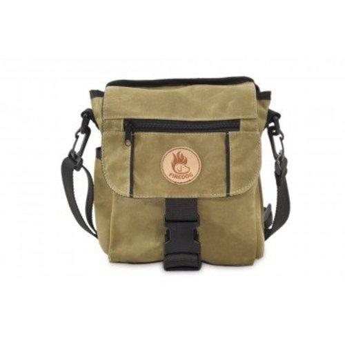 Firedog Firedog Mini Deluxe Tas Wax Cotton - Licht Khaki