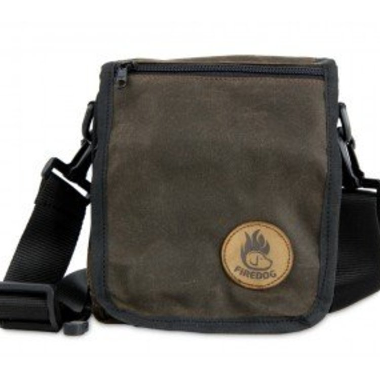 Firedog Messenger Tas Wax Cotton - Bruin