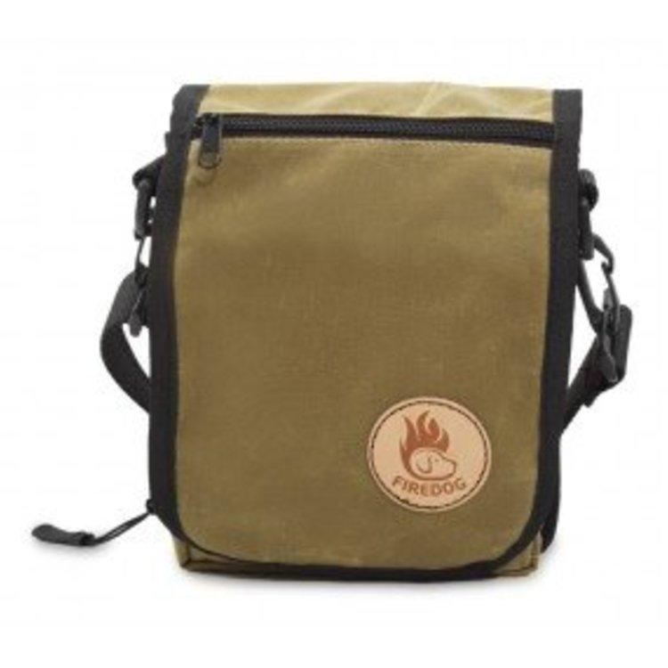 Firedog Firedog Messenger Tas Wax Cotton - Licht Khaki