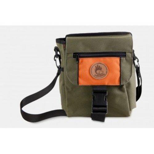 Firedog Firedog Mini Dummy Deluxe Tas - Khaki/Oranje