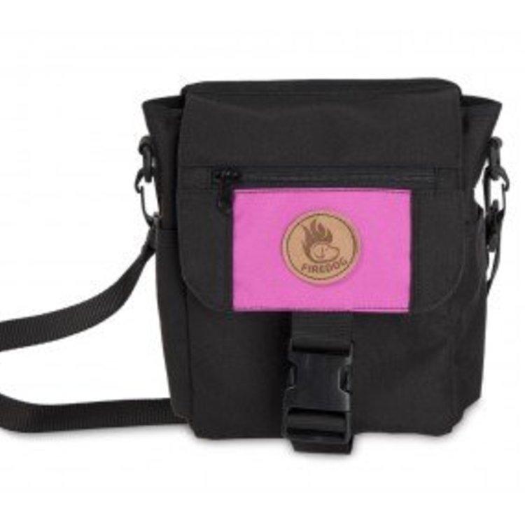 Firedog Firedog Mini Dummy Deluxe Tas - Zwart/Pink