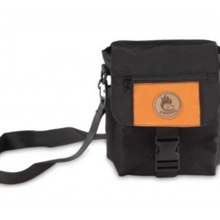 Firedog Mini Dummy Deluxe Tas - Zwart/Oranje
