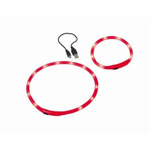 Nobby Nobby - LED Licht Halsband Rood Ø 1 cm