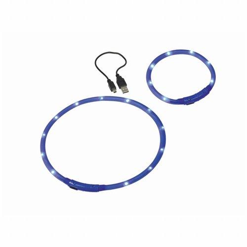 Nobby Nobby - LED Licht Halsband Blauw Ø 1cm