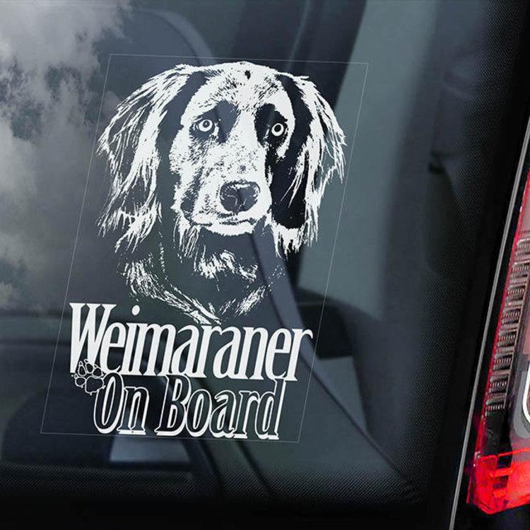 Auto Sticker Weimaraners