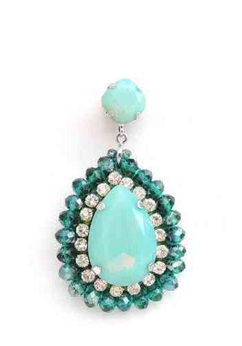 Bruma/Vanity Stone & crystal drop earrings