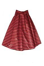 Que Guapa Coloured striped skirt
