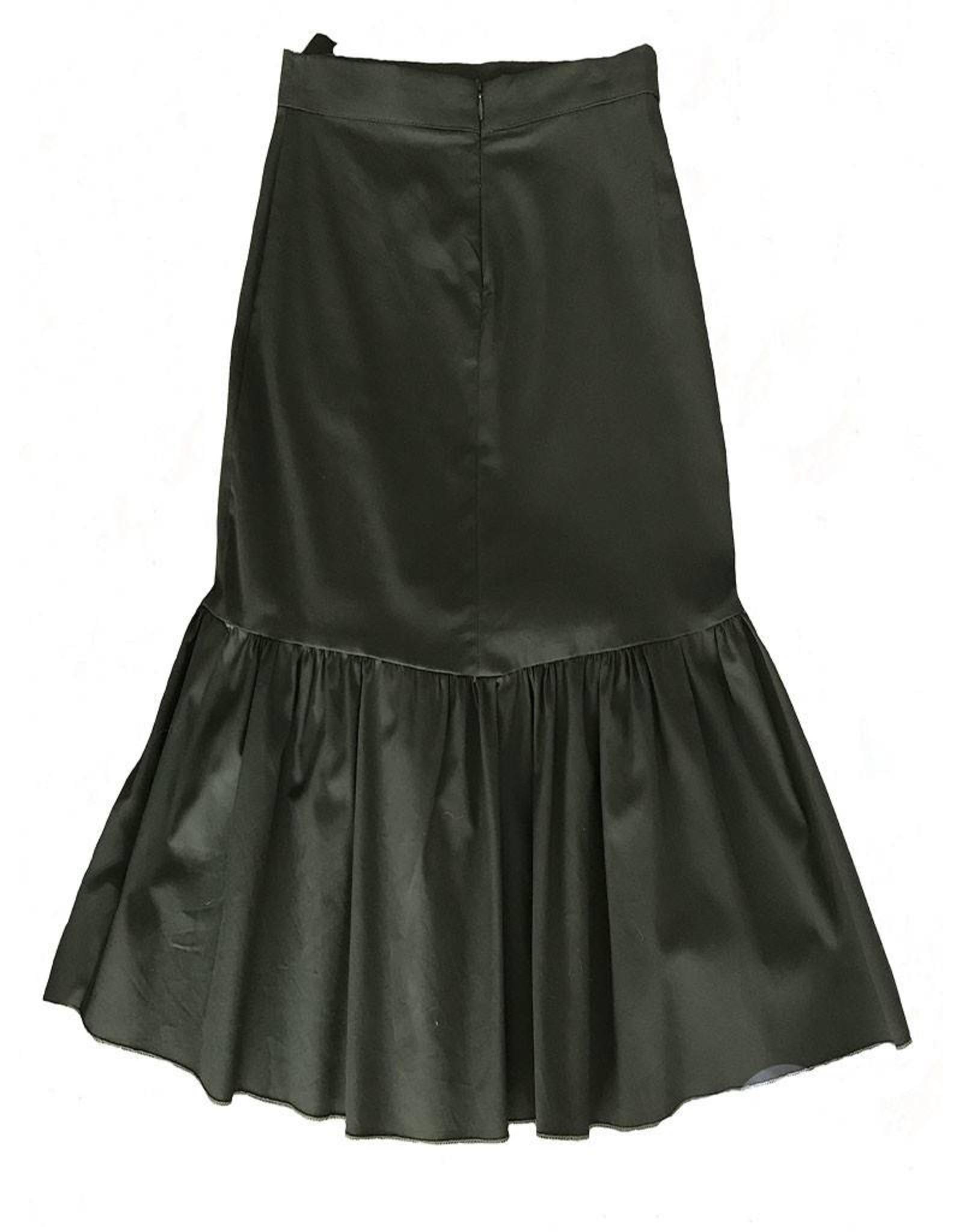 Que Guapa Army green ruffles skirt