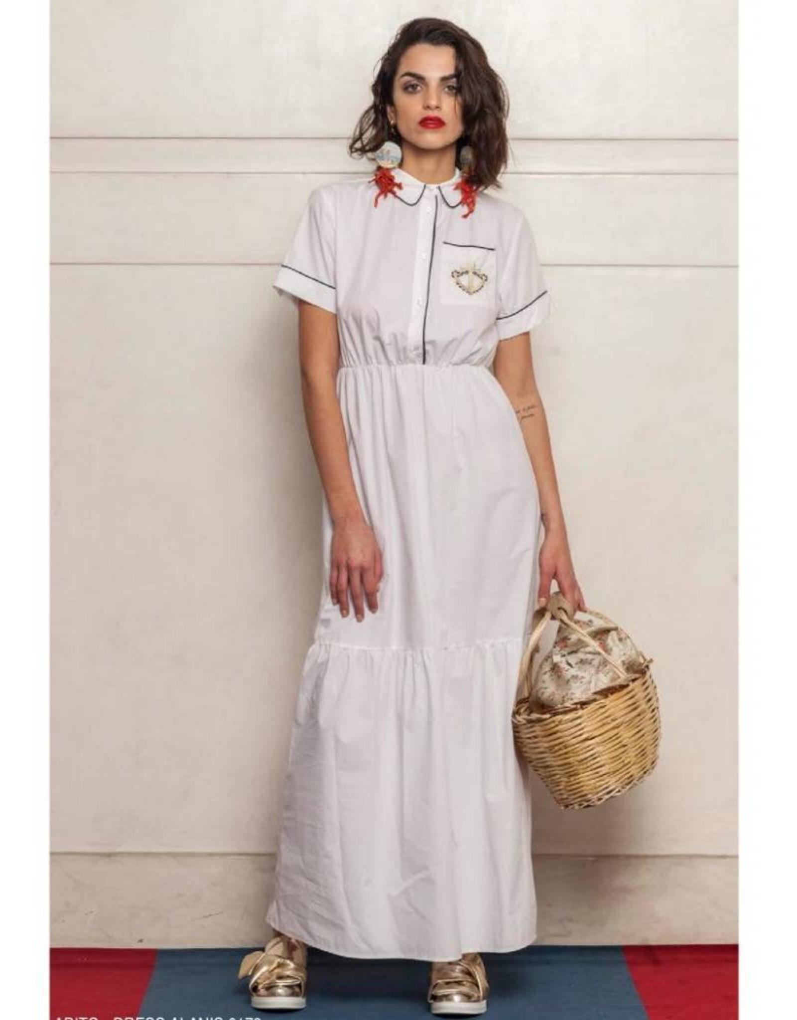 Que Guapa Navy maxi dress