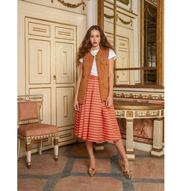 Que Guapa Coloured striped skirt