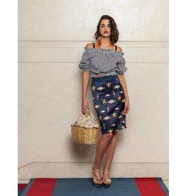 Que Guapa Fish printed skirt