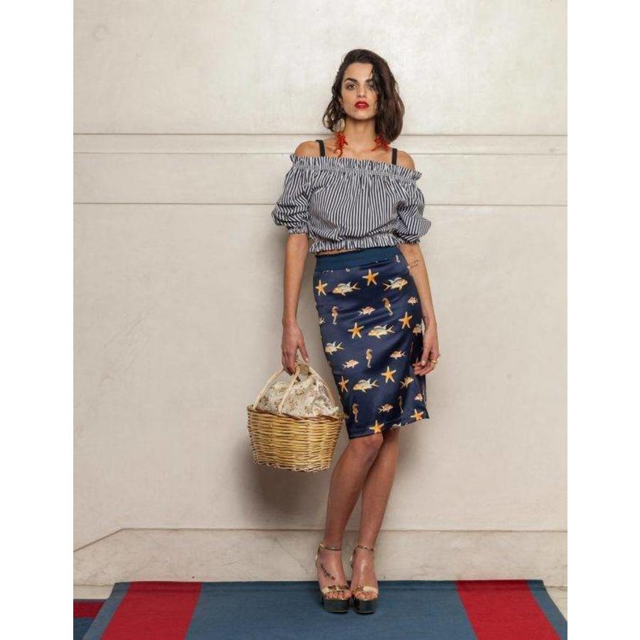 Fish printed skirt