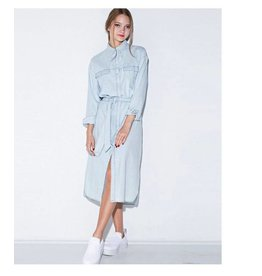 Love Shop Pray Midi denim dress