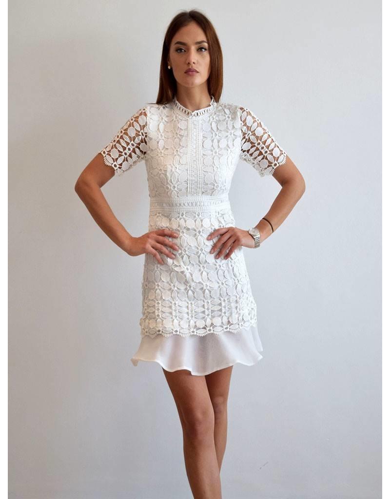 Love Shop Pray Mini lace dress