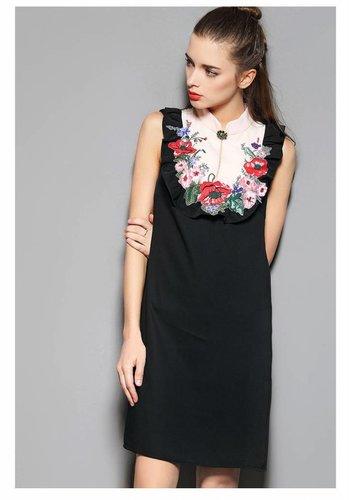 Love Shop Pray Floral appliqué sleeveless dress