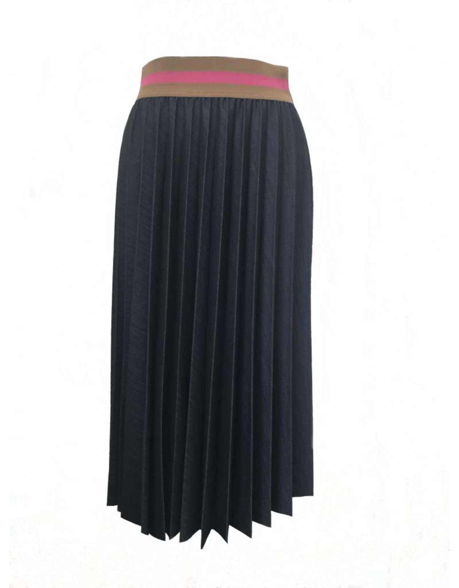 Souvenir Clubbing Denim pleated skirt