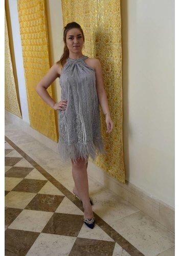 11f0bdbd752 Preeti Chandra Lace halter short dress