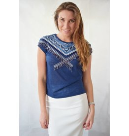Ramos E Ramos/SMF Woman Hand beaded embroidered top