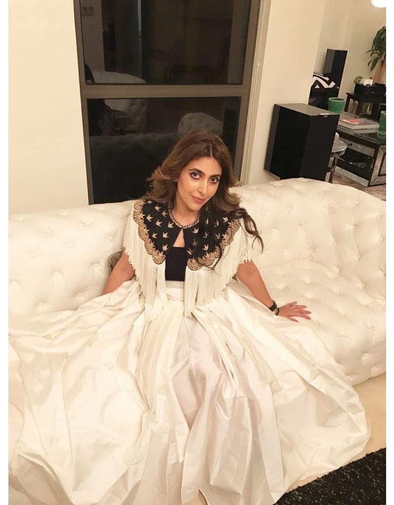 Preeti Chandra Silk broad waistband with pockets