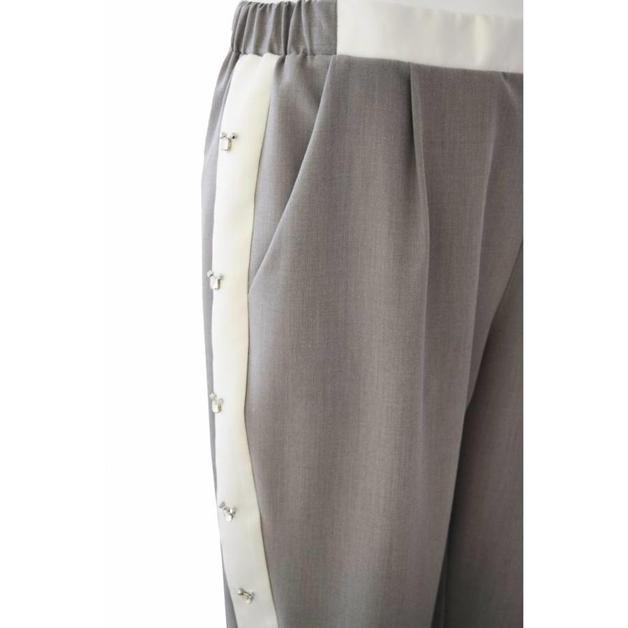 Elastic waist side band pants