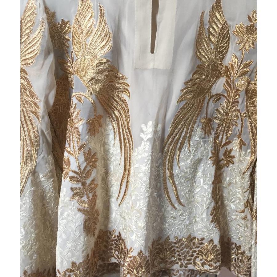 Bird embroidered kaftan