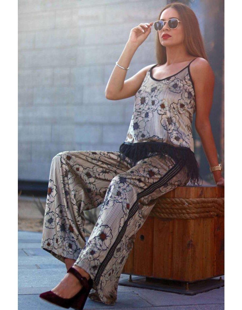 Motel By Kosmika Velvet printed trouser