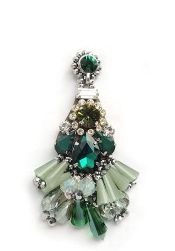 Bruma/Vanity Crystal Drop Earrings Green