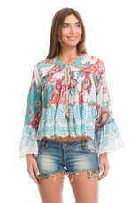 Peace & Love Love printed top