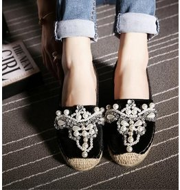 Love Shop Pray Soft leather rhinestone shoes