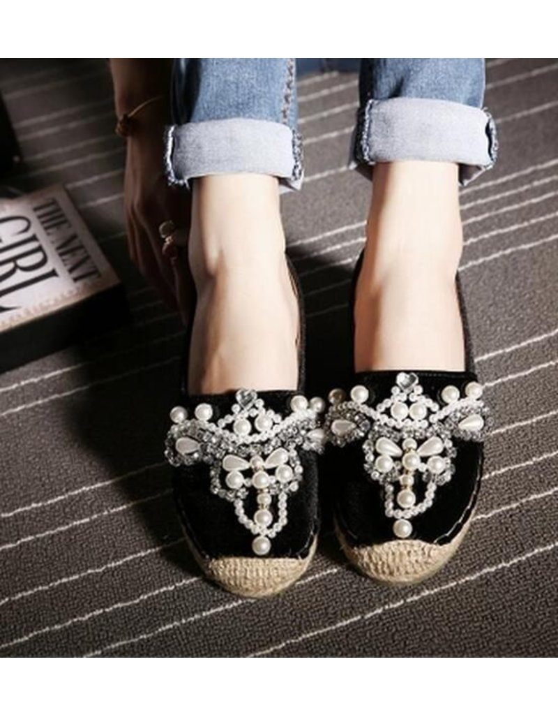 Love Shop Pray Soft leather rhinestone shoes
