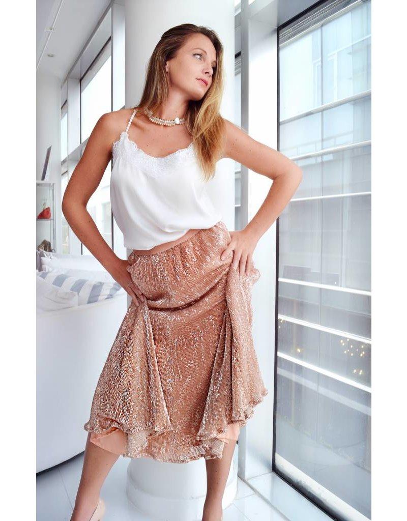 Preeti Chandra Sequins skirt