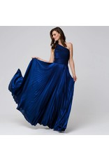 Access Abee Fashion Maxi one shoulder glitter moussline pleated dress