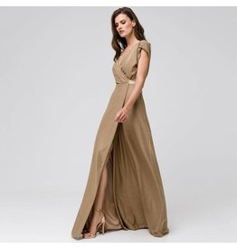 Access Abee Fashion Maxi wrap lurex dress