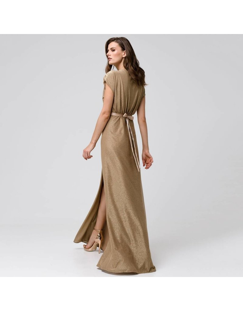 Access Abee Fashion Maxi wrap lurex dress