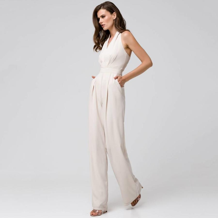 Jumpsuit with plunging neckline